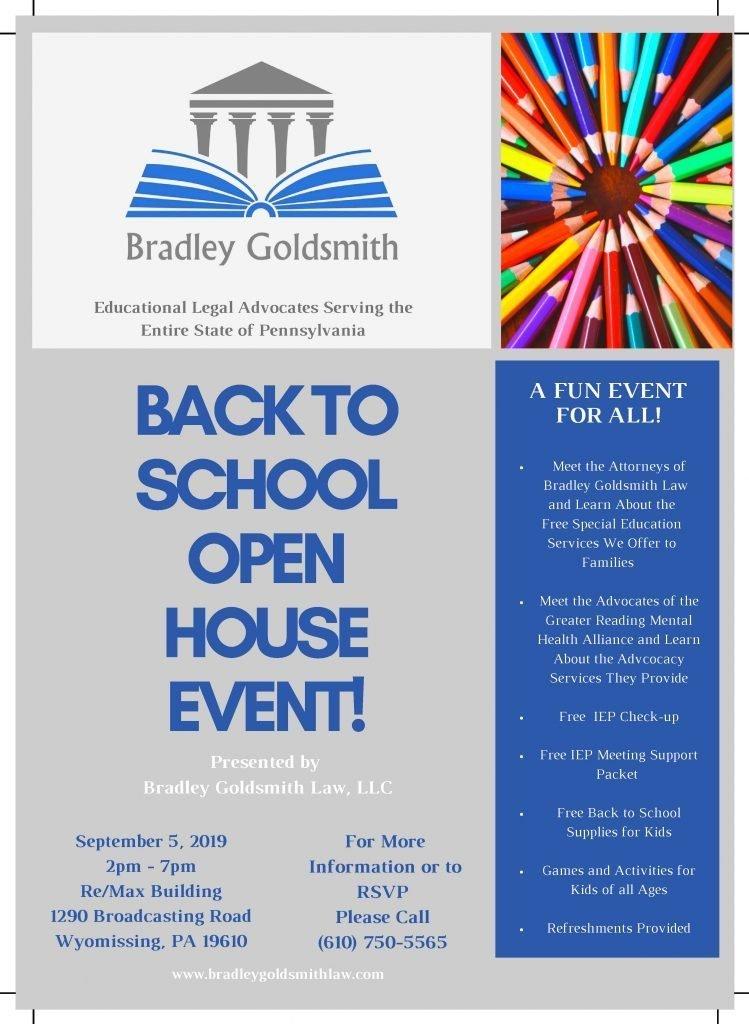 back to school open house flyer